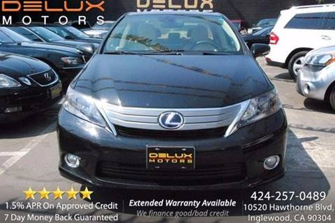 2010 Lexus HS 250h for sale at Delux Motors in Inglewood CA