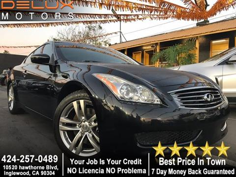 2009 Infiniti G37 Coupe for sale in Inglewood, CA
