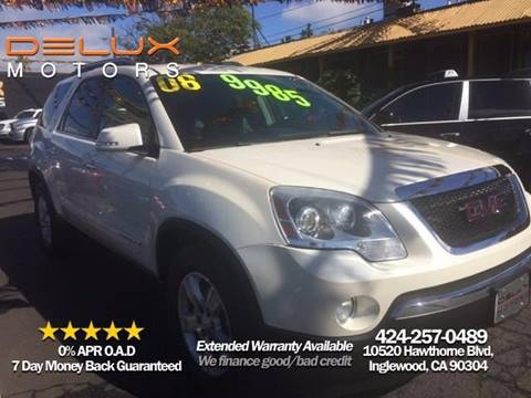 2008 GMC Acadia for sale at Delux Motors in Inglewood CA