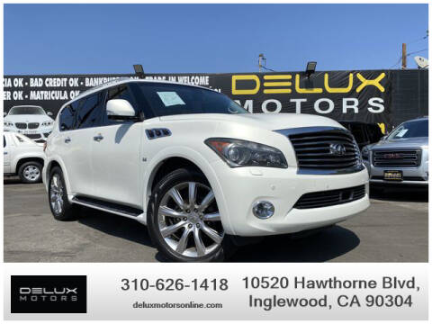 2014 Infiniti QX80 for sale at Delux Motors in Inglewood CA