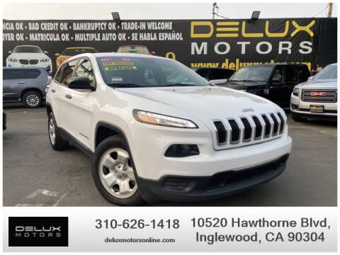 2016 Jeep Cherokee for sale at Delux Motors in Inglewood CA