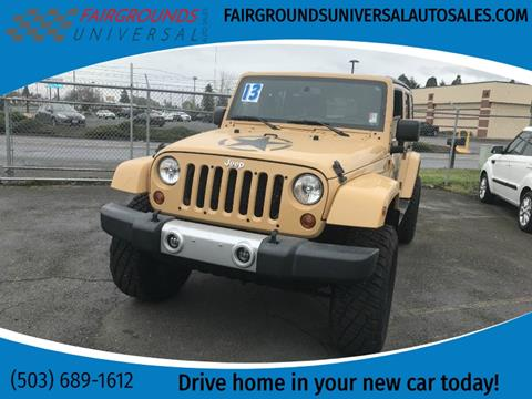 2013 Jeep Wrangler Unlimited for sale at Universal Auto Sales in Salem OR