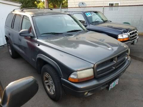 2002 Dodge Durango for sale at Universal Auto Sales in Salem OR