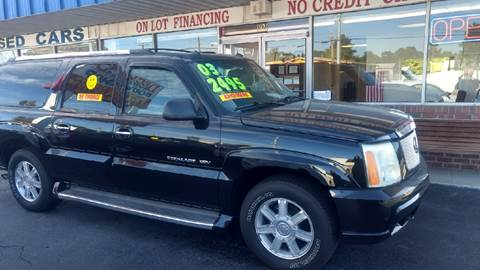 2003 Cadillac Escalade ESV for sale at Deckers Auto Sales Inc in Fayetteville NC