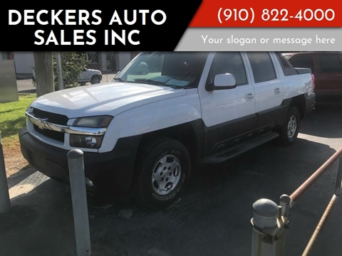 2003 Chevrolet Avalanche for sale at Deckers Auto Sales Inc in Fayetteville NC