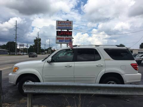 2001 Toyota Sequoia for sale at Deckers Auto Sales Inc in Fayetteville NC
