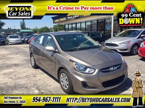 2014 Hyundai Accent for sale in Hollywood, FL