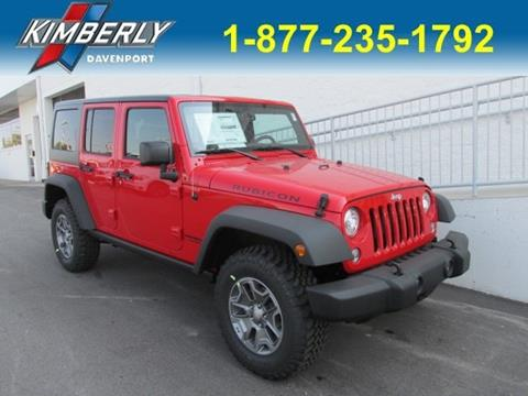 2017 Jeep Wrangler Unlimited for sale in Davenport, IA