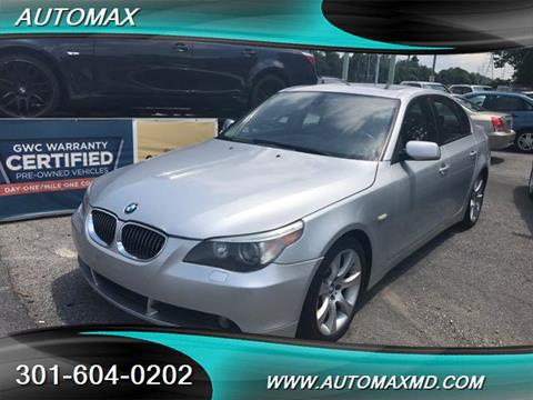 2005 BMW 5 Series for sale in Laurel, MD