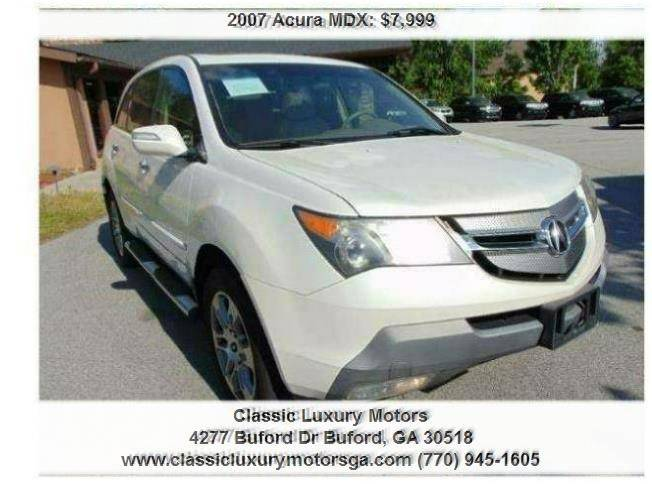 Acura MDX SHAWD In Buford GA Classic Luxury Motors - 2007 acura mdx sport shocks