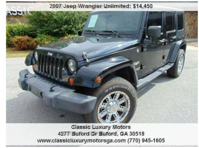 2007 Jeep Wrangler Unlimited For Sale At Classic Luxury Motors In Buford GA