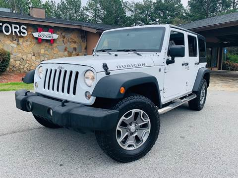 2014 Jeep Wrangler Unlimited for sale at Classic Luxury Motors in Buford GA