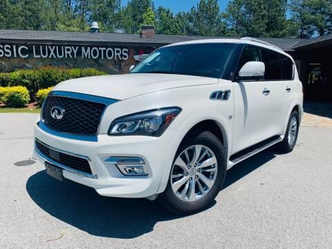 2016 Infiniti QX80 for sale at Classic Luxury Motors in Buford GA