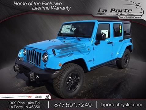 2017 Jeep Wrangler Unlimited for sale in La Porte, IN
