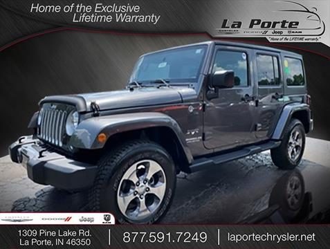 2016 Jeep Wrangler Unlimited for sale in La Porte, IN
