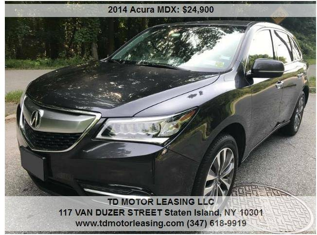 Acura MDX SHAWD WTech In Staten Island NY TD MOTOR LEASING LLC - Acura mdx for lease
