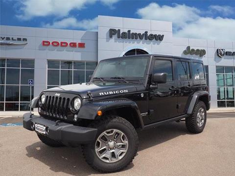 2017 Jeep Wrangler Unlimited for sale in Plainview TX