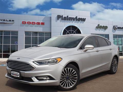 2017 Ford Fusion for sale in Plainview TX