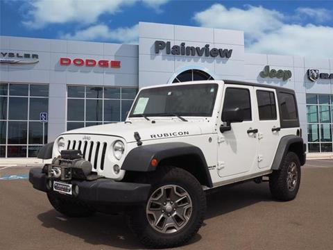 2014 Jeep Wrangler Unlimited for sale in Plainview, TX