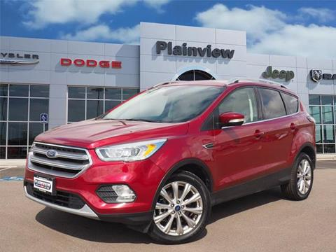 2017 Ford Escape for sale in Plainview, TX