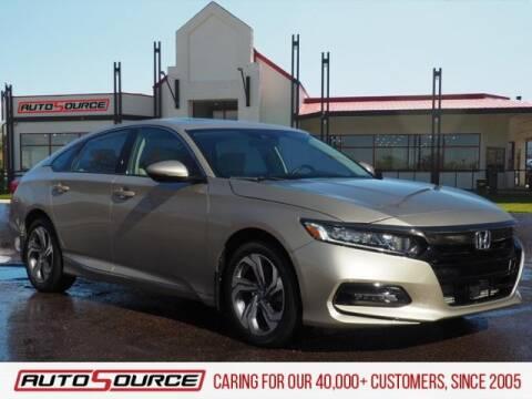 2018 Honda Accord EX-L for sale at AutoSource Colorado Springs in Colorado Springs CO