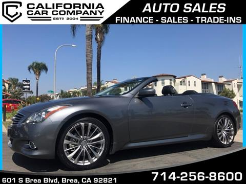 2011 Infiniti G37 Convertible for sale in Brea CA