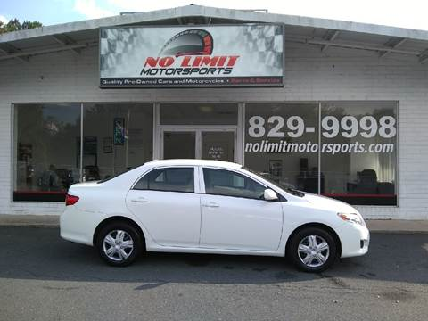 2010 Toyota Corolla for sale at NO LIMIT MOTORSPORTS in Belmont NC