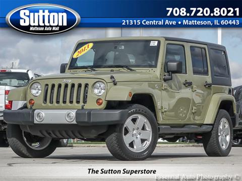 2013 Jeep Wrangler Unlimited for sale in Matteson, IL