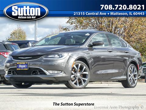 2016 Chrysler 200 for sale in Matteson, IL