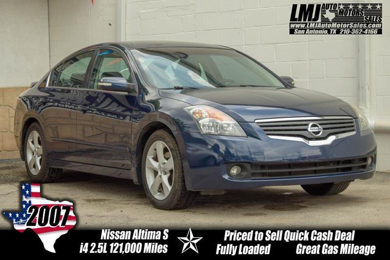 2007 Nissan Altima 2 5 S In San Antonio Tx Lmj Auto Motors Sales