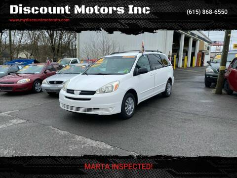 2005 Toyota Sienna CE 7 Passenger for sale at Discount Motors Inc in Madison TN