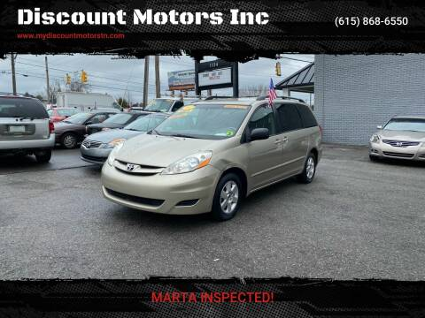 2007 Toyota Sienna CE 7-Passenger for sale at Discount Motors Inc in Madison TN