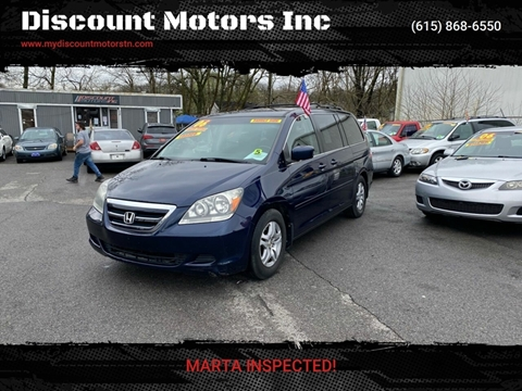 2006 Honda Odyssey EX-L w/DVD for sale at Discount Motors Inc in Madison TN