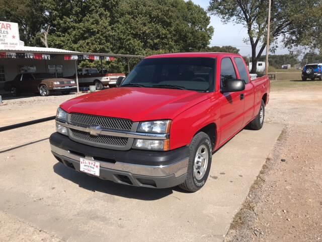 2003 Chevrolet Silverado 1500 for sale at ALL STAR VEHICLE SALES LLC in Tishomingo OK