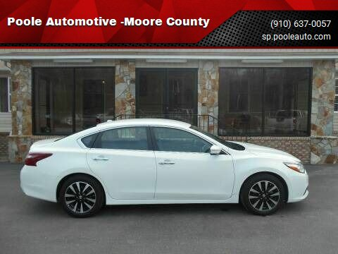 2018 Nissan Altima for sale at Poole Automotive -Moore County in Aberdeen NC