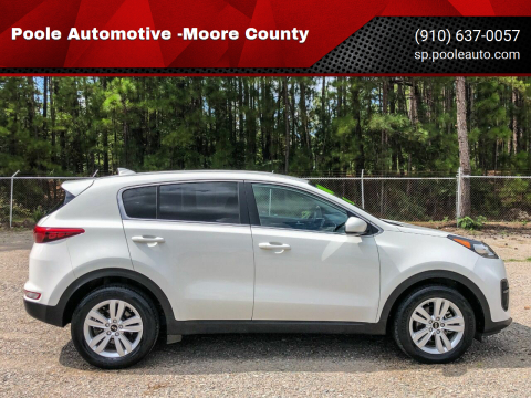 2018 Kia Sportage for sale at Poole Automotive -Moore County in Aberdeen NC