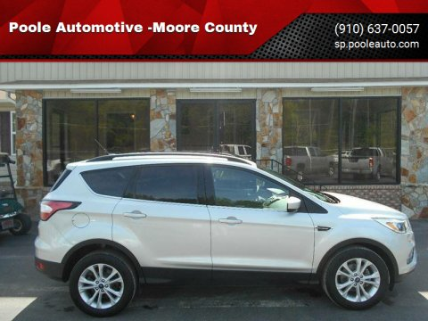 2018 Ford Escape for sale at Poole Automotive -Moore County in Aberdeen NC