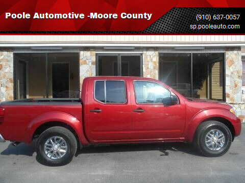 2019 Nissan Frontier for sale at Poole Automotive -Moore County in Aberdeen NC