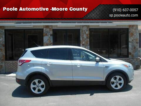 2016 Ford Escape for sale at Poole Automotive -Moore County in Aberdeen NC