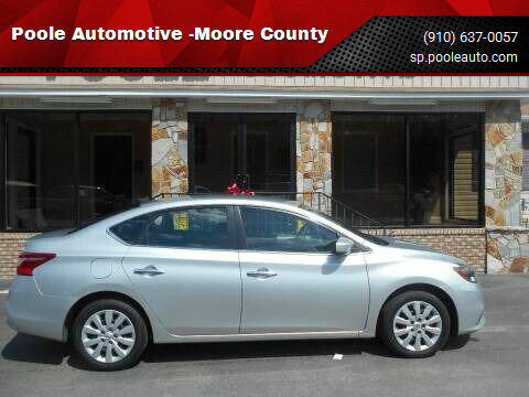 2016 Nissan Sentra for sale at Poole Automotive -Moore County in Aberdeen NC