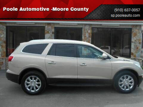 2012 Buick Enclave for sale at Poole Automotive -Moore County in Aberdeen NC