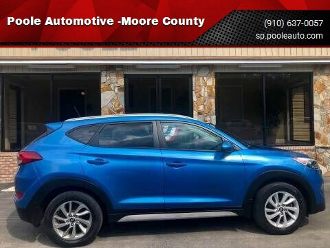 2017 Hyundai Tucson for sale at Poole Automotive -Moore County in Aberdeen NC