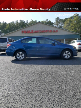 2013 Honda Civic for sale at Poole Automotive -Moore County in Aberdeen NC