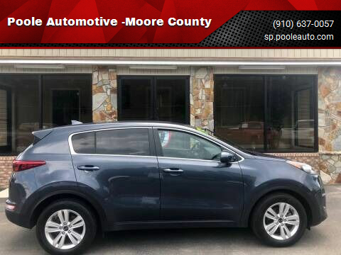 2019 Kia Sportage for sale at Poole Automotive -Moore County in Aberdeen NC