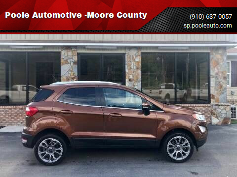 2019 Ford EcoSport for sale at Poole Automotive -Moore County in Aberdeen NC