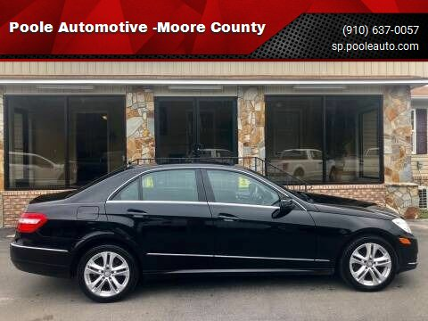 2011 Mercedes-Benz E-Class for sale at Poole Automotive -Moore County in Aberdeen NC