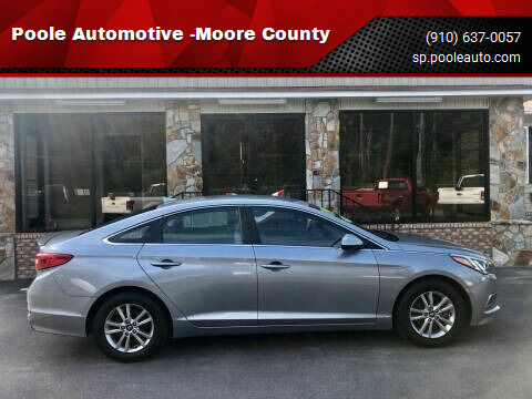 2017 Hyundai Sonata for sale at Poole Automotive -Moore County in Aberdeen NC