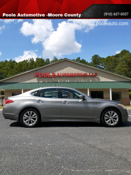 2012 Infiniti M37 for sale at Poole Automotive -Moore County in Aberdeen NC