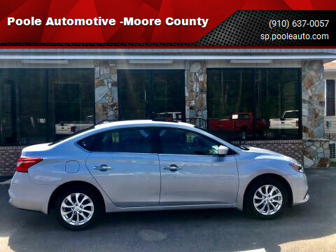 2018 Nissan Sentra for sale at Poole Automotive -Moore County in Aberdeen NC