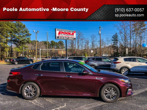 2019 Kia Optima for sale at Poole Automotive -Moore County in Aberdeen NC